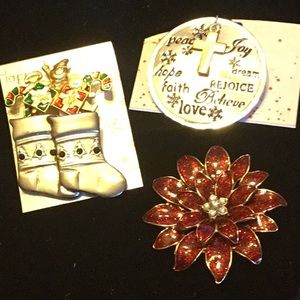Trio Broaches NWT and one NWOT Beautiful Gifts